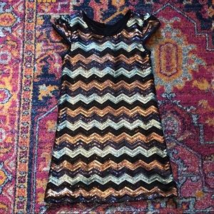 Pippa & Julie chevron sequined dress size 12
